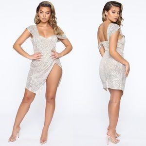 🆕FASHION NOVA | Buy Me A Drink Sequin Mini Dress